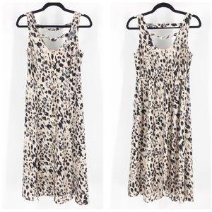 Band of Gypsies blush leopard cheetah print dress